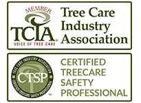 Certified Tree Care Safety Professional and Member of Tree Care Industry Association Badges