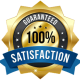 100 Percent Satisfaction Guaranteed Tree Service Badge